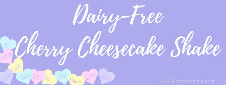 dairy free cherry cheesecake shake www.panzaavenue.com/ccheesecake