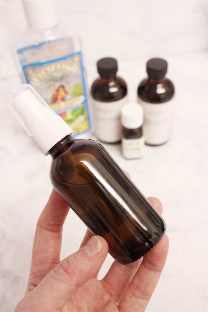 Natural postpartum spray to soothe and heal the perineal area after birth. DIY perineal spray for postpartum healing and pain relief.